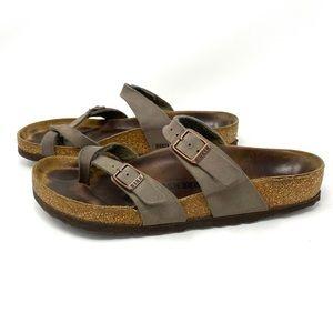 Birkenstock Mayari Sandal Buckle Strap Brown Sz 39